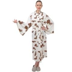 Casual Maxi Tie Front Velour Kimono by scharamo