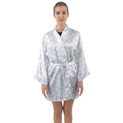Hexagon Geometric Shape Long Sleeve Kimono Robe