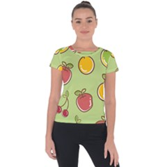 Seamless Healthy Fruit Short Sleeve Sports Top