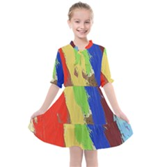 Abstract Painting Kids  All Frills Chiffon Dress by Alisyart
