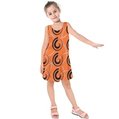 Background Pattern Retro Kids  Sleeveless Dress
