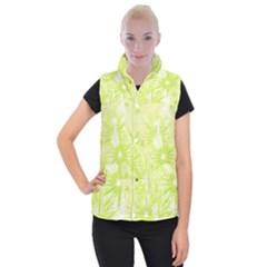 Background Green Star Women s Button Up Vest