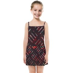 Background Red Metal Kids  Summer Sun Dress