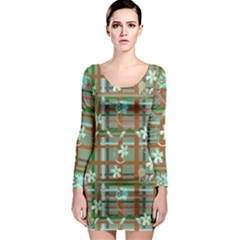 Textile Fabric Long Sleeve Bodycon Dress