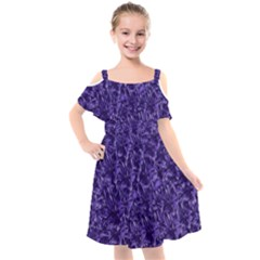 Pattern Color Ornament Kids  Cut Out Shoulders Chiffon Dress by HermanTelo