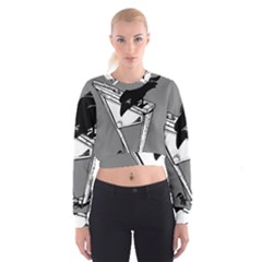 Gallows Raven Chopped Cropped Sweatshirt by Bajindul