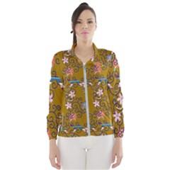 Textile Flowers Pattern Women s Windbreaker by HermanTelo