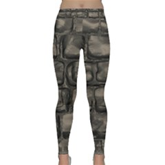 Stone Patch Sidewalk Classic Yoga Leggings by HermanTelo