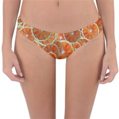 Oranges Background Reversible Hipster Bikini Bottoms by HermanTelo
