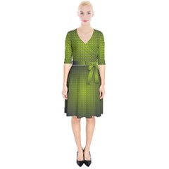 Hexagon Background Circle Wrap Up Cocktail Dress