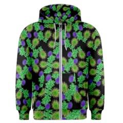 Flowers Pattern Background Men s Zipper Hoodie