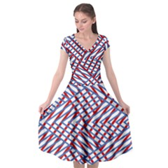 Abstract Chaos Confusion Cap Sleeve Wrap Front Dress by Alisyart
