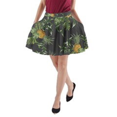 Pineapples Pattern A Line Pocket Skirt by Sobalvarro