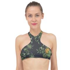 Pineapples Pattern High Neck Bikini Top by Sobalvarro