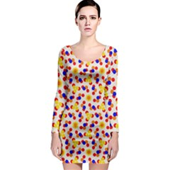 Polka Dot Party Long Sleeve Bodycon Dress by VeataAtticus