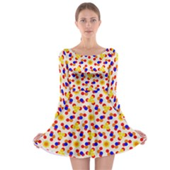 Polka Dot Party Long Sleeve Skater Dress by VeataAtticus