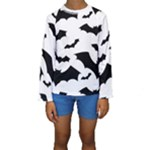 Deathrock Bats Kids  Long Sleeve Swimwear