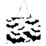 Deathrock Bats Zipper Large Tote Bag
