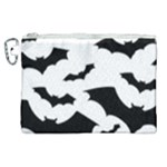 Deathrock Bats Canvas Cosmetic Bag (XL)