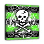 Deathrock Skull Mini Canvas 8  x 8  (Stretched)