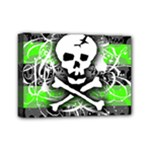 Deathrock Skull Mini Canvas 7  x 5  (Stretched)