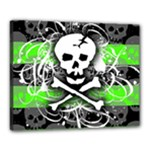 Deathrock Skull Canvas 20  x 16  (Stretched)