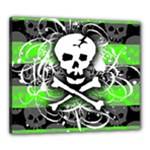 Deathrock Skull Canvas 24  x 20  (Stretched)