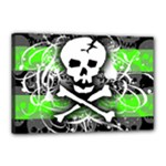 Deathrock Skull Canvas 18  x 12  (Stretched)