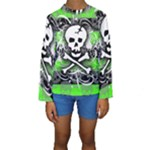 Deathrock Skull Kids  Long Sleeve Swimwear