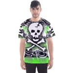 Deathrock Skull Men s Sports Mesh Tee