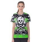 Deathrock Skull Women s Cotton Tee