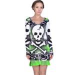 Deathrock Skull Long Sleeve Nightdress