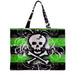 Deathrock Skull Zipper Mini Tote Bag