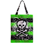 Deathrock Skull Zipper Classic Tote Bag