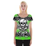 Deathrock Skull Cap Sleeve Top