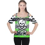 Deathrock Skull Cutout Shoulder Tee