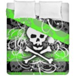 Deathrock Skull Duvet Cover Double Side (California King Size)