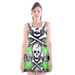 Deathrock Skull Scoop Neck Skater Dress