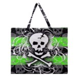Deathrock Skull Zipper Large Tote Bag