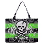 Deathrock Skull Zipper Medium Tote Bag