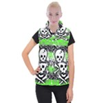 Deathrock Skull Women s Button Up Vest