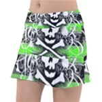 Deathrock Skull Tennis Skirt