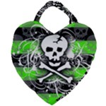 Deathrock Skull Giant Heart Shaped Tote