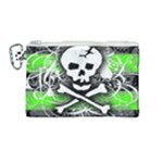 Deathrock Skull Canvas Cosmetic Bag (Medium)