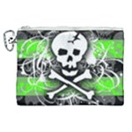 Deathrock Skull Canvas Cosmetic Bag (XL)