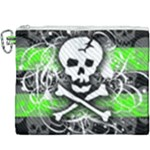 Deathrock Skull Canvas Cosmetic Bag (XXXL)