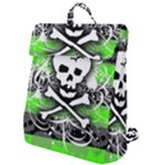Deathrock Skull Flap Top Backpack
