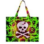 Deathrock Skull & Crossbones Zipper Mini Tote Bag