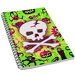 Deathrock Skull & Crossbones 5.5  x 8.5  Notebook
