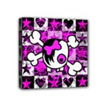 Emo Scene Girl Skull Mini Canvas 4  x 4  (Stretched)